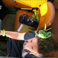 green fascinator 2