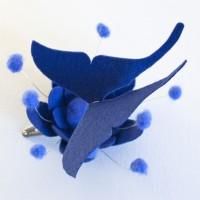 blu fascinator